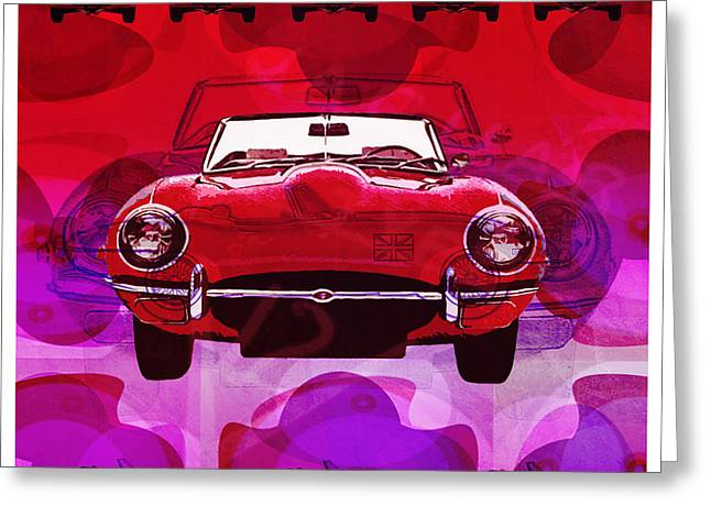 Mgl - Automotive Fun Jaguar 01 Greeting Card by Joost Hogervorst