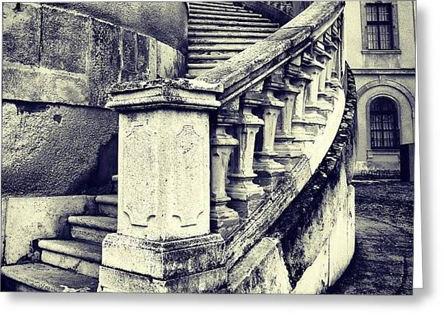 #mgmarts #architecture #castle #steps Greeting Card by Marianna Mills