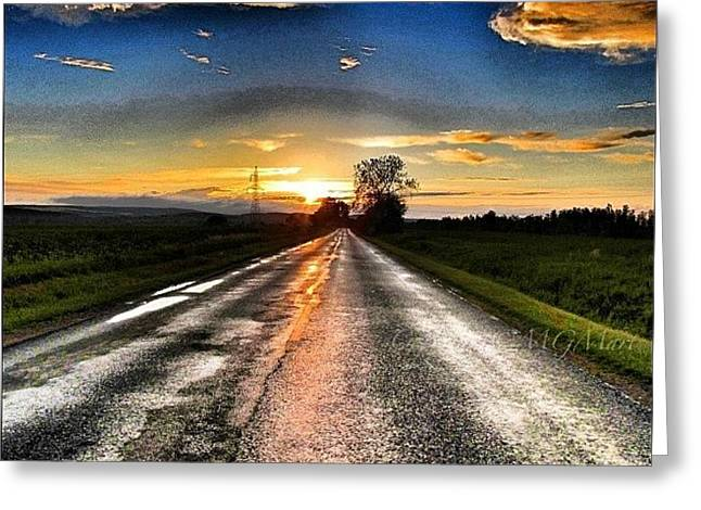 #mgmarts #driving #lonely #instamood Greeting Card by Marianna Mills
