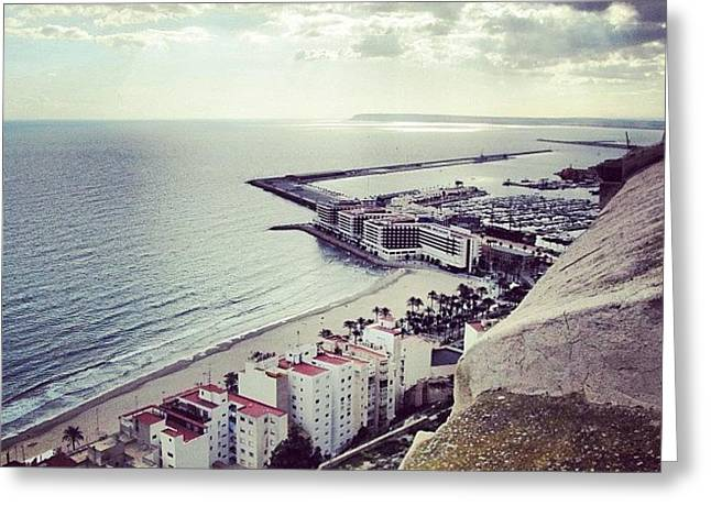 #mgmarts #spain #seaside #sea #view Greeting Card