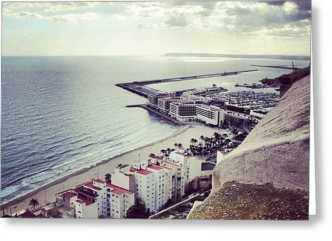 #mgmarts #spain #seaside #sea #view Greeting Card