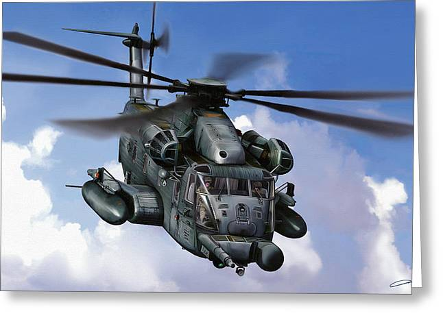 Mh-53j Pavelow IIi Greeting Card by Dale Jackson