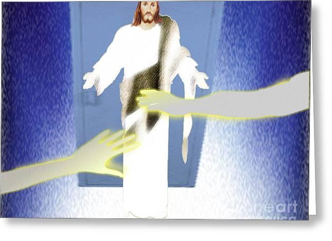 My Door Is Always Open Greeting Card by Belinda Threeths