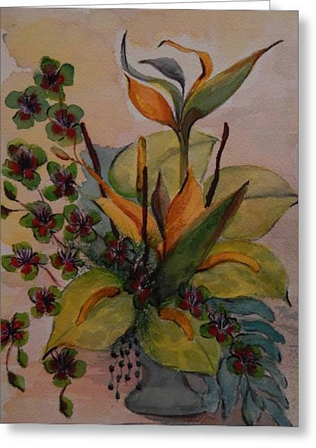 Mi Arrangement Greeting Card by Shirley Watts