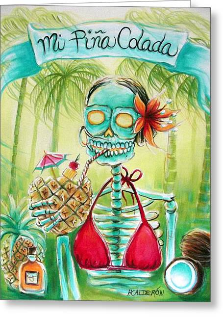 Mi Pina Colada Greeting Card