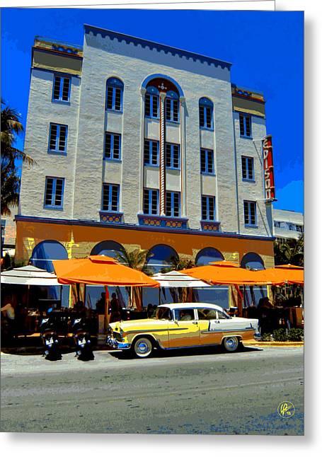 Miami 041 Greeting Card by Lance Vaughn
