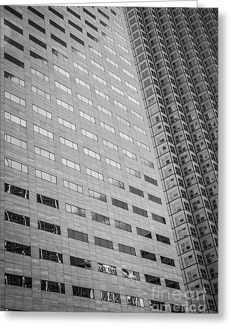 Miami Architecture Detail 1 - Black And White Greeting Card by Ian Monk
