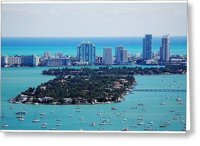 Miami Beach & Biscayne Bay Greeting Card