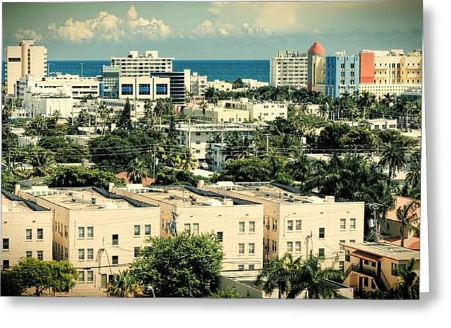 Miami Beach-0156 Greeting Card