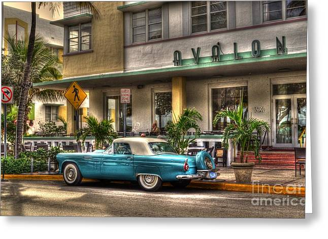 Miami Beach Art Deco 1 Greeting Card by Timothy Lowry