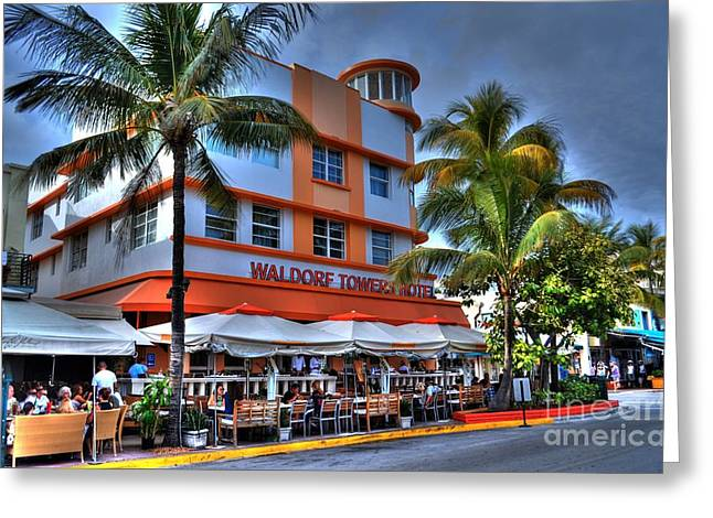 Miami Beach Art Deco 2 Greeting Card by Timothy Lowry