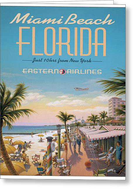 Miami Beach Florida Just 10 Hours From New York Greeting Card