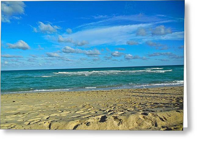 Miami Beach Greeting Card by Joan Reese