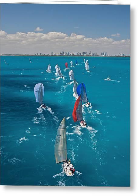 Miami Beach Regatta Greeting Card
