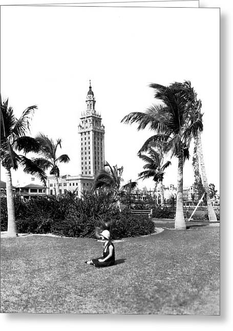 Miami Daily News Building Greeting Card
