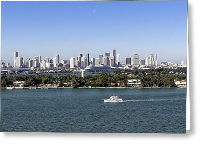 Miami Daytime Panorama Greeting Card