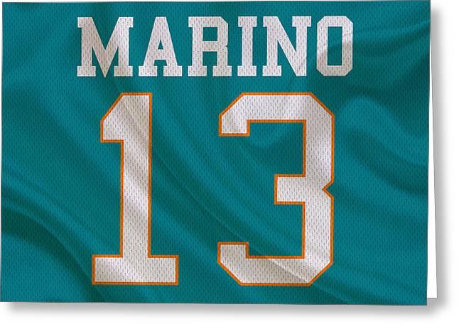Miami Dolphins Dan Marino Greeting Card by Joe Hamilton