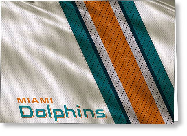 Miami Dolphins Uniform Greeting Card