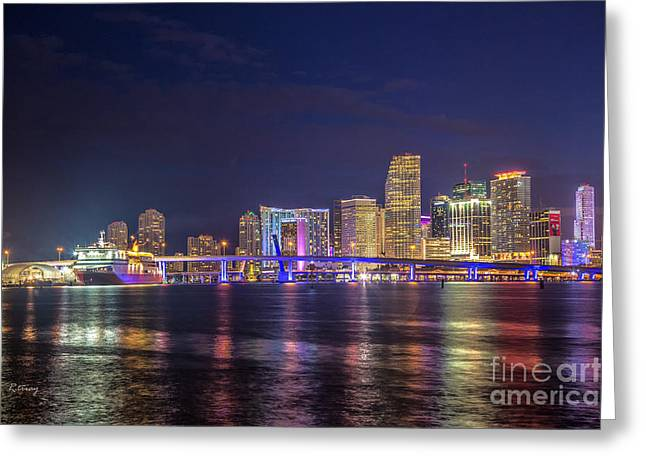 Miami Downtown Architecture Greeting Card by Rene Triay Photography