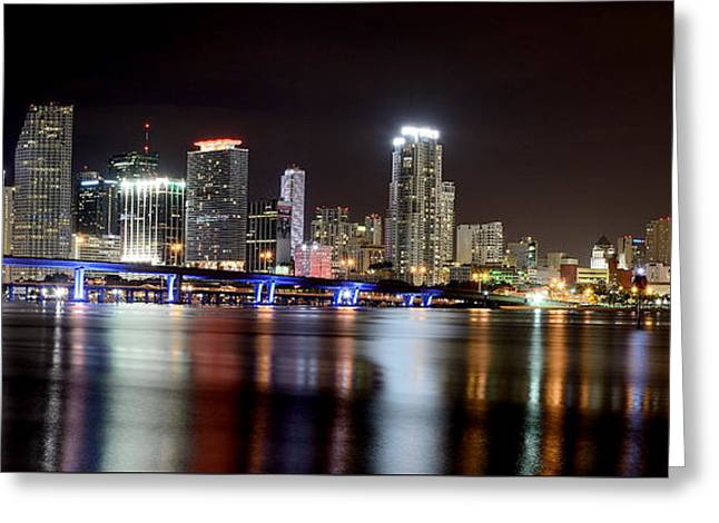 Miami - Florida  Greeting Card by Brendan Reals