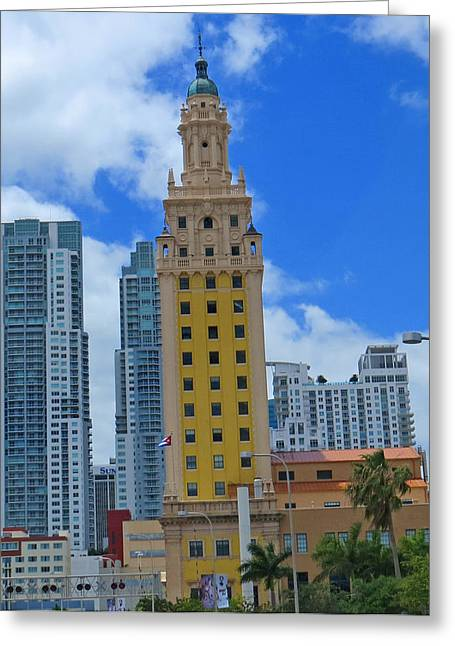 Miami Freedom Tower Greeting Card