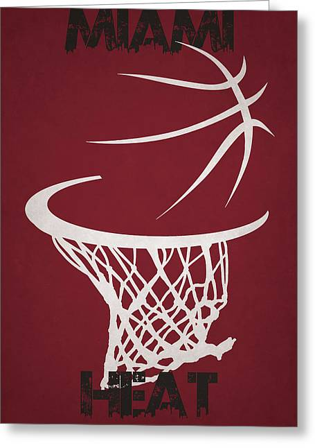 Miami Heat Hoop Greeting Card