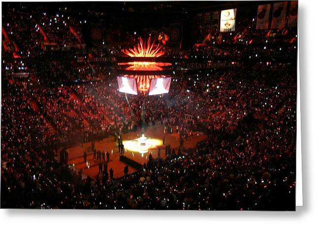 Miami Heat  Greeting Card by J Anthony