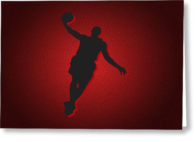 Miami Heat Lebron James Greeting Card by Joe Hamilton