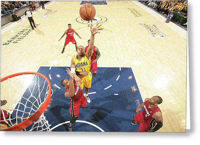 Miami Heat V Indiana Pacers - Eastern Greeting Card