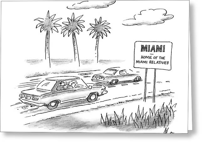 Miami:  Home Of The Miami Relatives Greeting Card by Frank Cotham