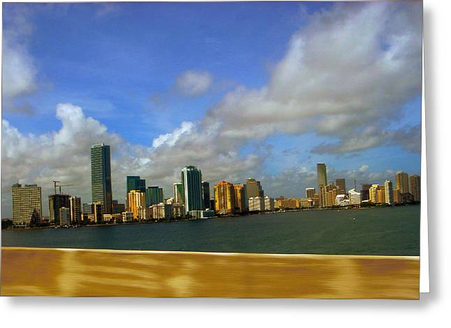 Miami Greeting Card by J Anthony