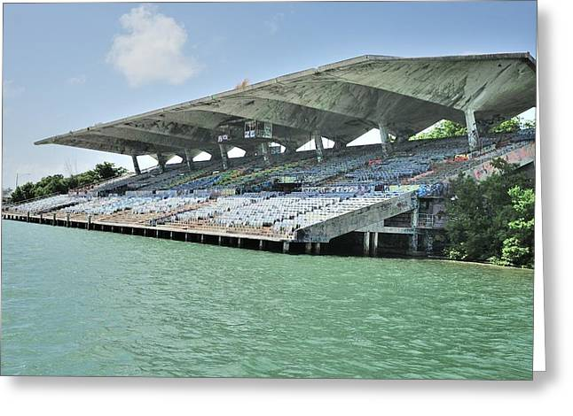 Miami Marine Stadium-abandoned Greeting Card by Bradford Martin