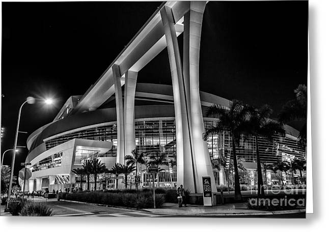 Miami Marlins Park Stadium Greeting Card