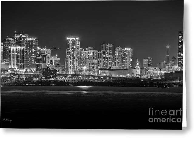 Miami On A Clear Summer Night Greeting Card