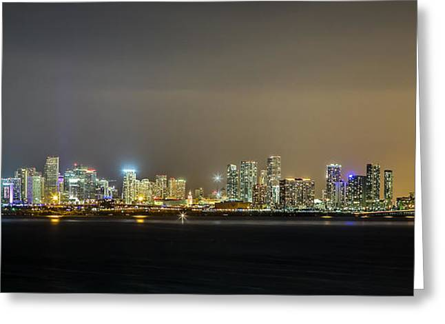 Miami Skyline View II Greeting Card by Rene Triay Photography