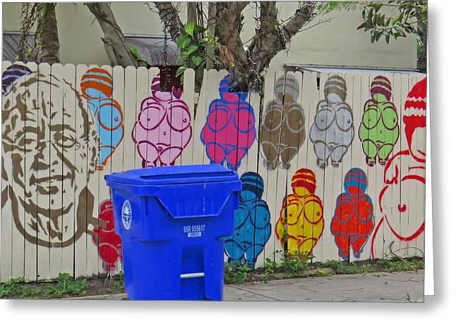 Miami Street Art Greeting Card