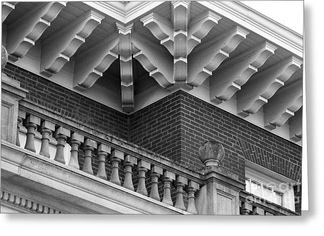Miami University Hall Auditorium Detail Greeting Card by University Icons