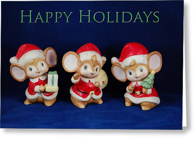 Mice Holiday Greeting Card