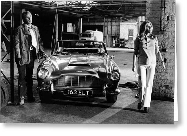 Michael Caine In The Italian Job  Greeting Card by Silver Screen