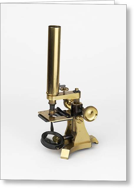 Michael Faraday's Microscope Greeting Card by Science Photo Library