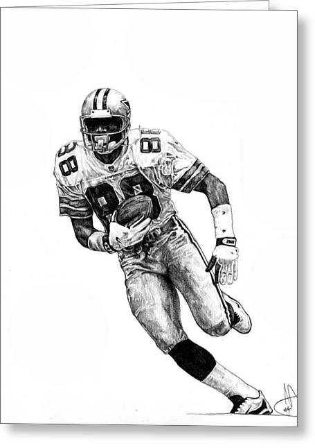 Michael Irvin Greeting Card by Joshua Sooter