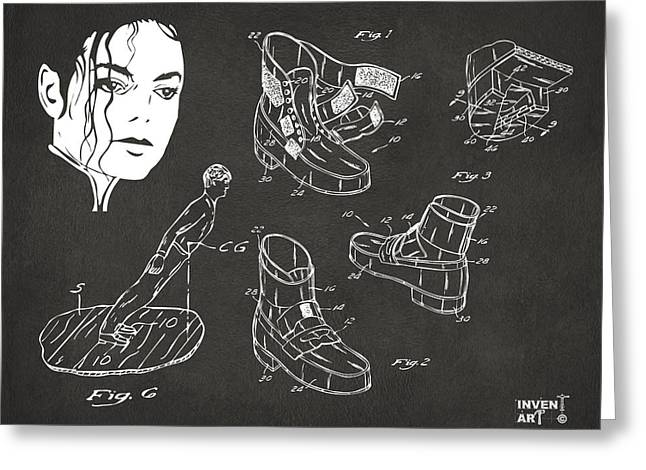 Michael Jackson Anti-gravity Shoe Patent Artwork Vintage Greeting Card