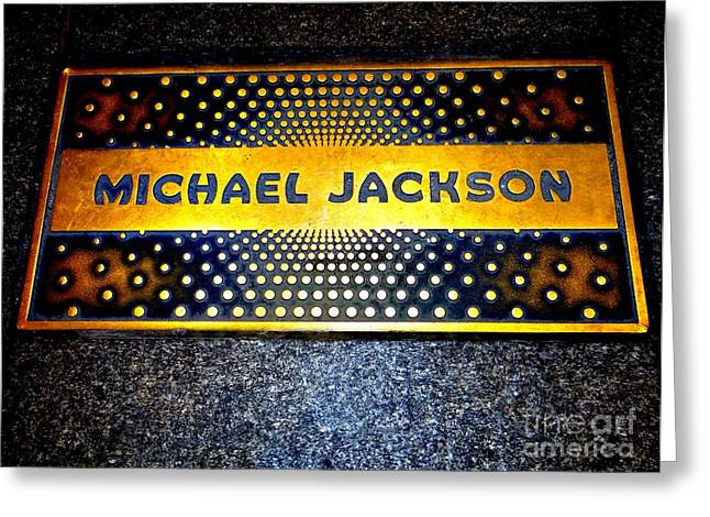 Michael Jackson Apollo Walk Of Fame Greeting Card by Ed Weidman