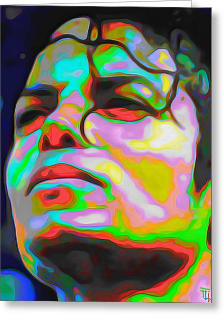 Michael Jackson Greeting Card by  Fli Art