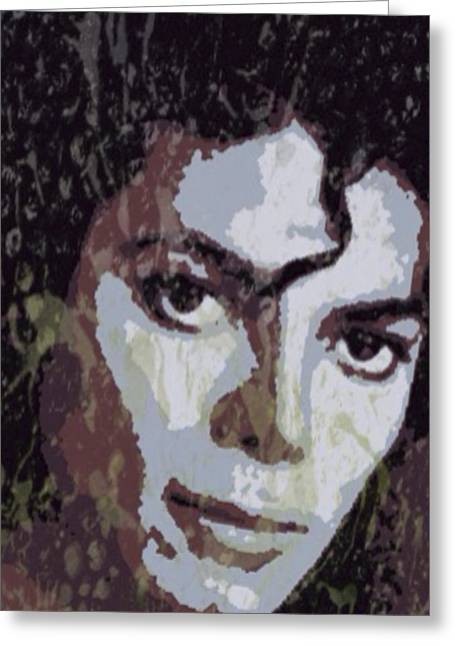 Michael Jackson Concert 4 Greeting Card by Yury Malkov