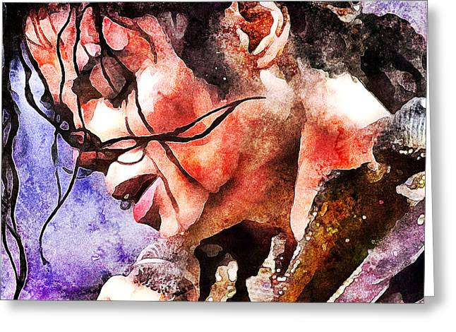 Michael Jackson Live And Alive 1 Greeting Card by Yury Malkov