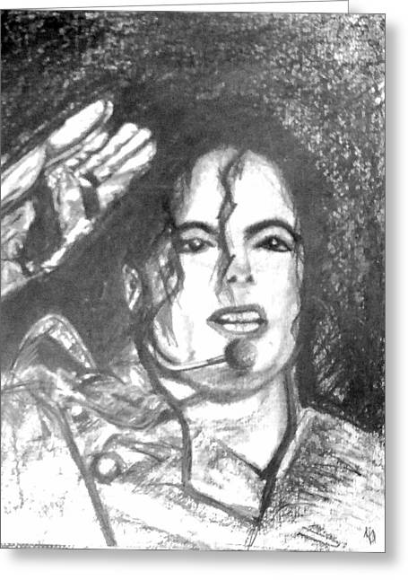 Michael Jackson Greeting Card by Marcello Cicchini