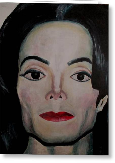 Michael Jackson Greeting Card by Maria Mimi