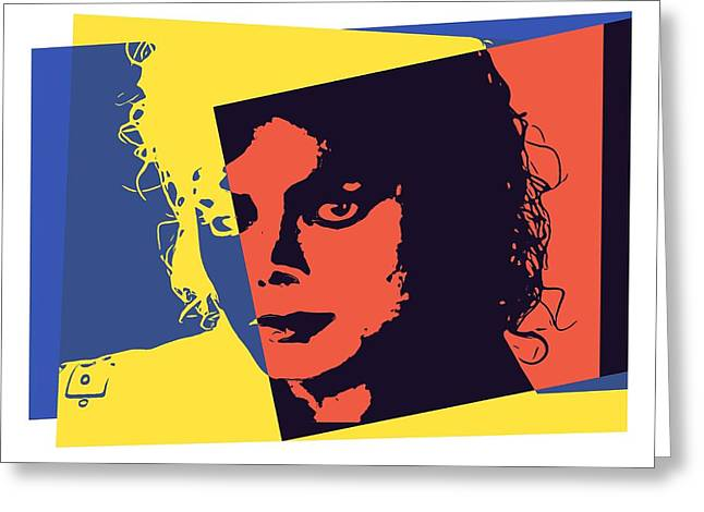 Michael Jackson Pop Art Greeting Card by Dan Sproul