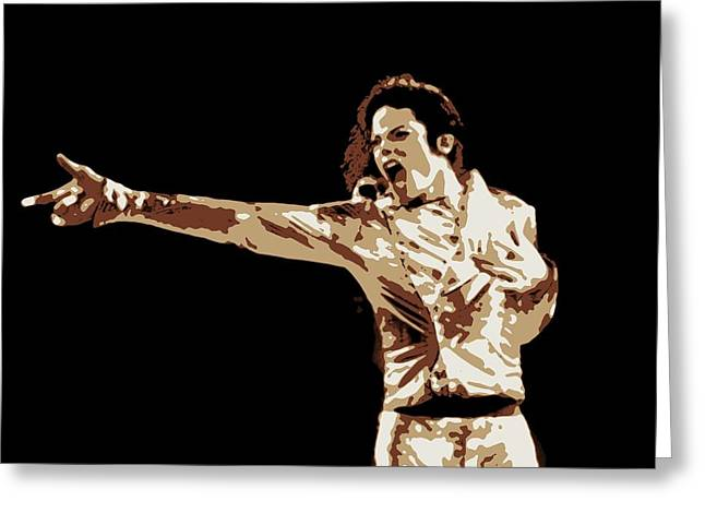Michael Jackson Poster Art Greeting Card by Florian Rodarte